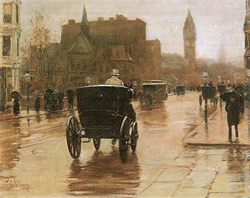Das Museum Outlet - Columbus Avenue by Hassam - A3 Poster