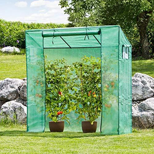 Tomatengewächshaus Bausatz/Tomatenzelt mit aufrollbarer Tür 2x2x0,6 m