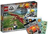 Jurassic World Lego 75926–Pteranodon de caza Pliego de pegatinas, dinosaurio de juguete