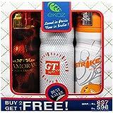 Ekoz Glammorama Marroom,Gt White & Strike Homme Deodorant- 200 Ml Each( Set Of 3)