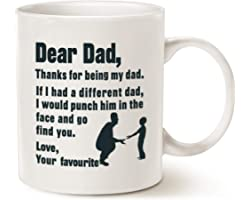 This Might be Wine Funny for Dad Coffee Mug, Dear Dad Thanks for Being My Dad, Love Your Favourite Best Gag for Dad, Father,