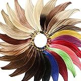 #H10/16 Gesträhnt - Clip-In Hair Extensions (60 cm - Glatt - 8 Tressen mit 18 Clips) Haarverlängerung XXL Komplett-SET - 140g - Kanekalon synthetisches Haar mit sehr hoher Qualität