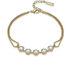 Mestige MSBR3277 Gold Plated Payton Charm Bracelet for Women