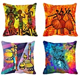 #4: 4pc -meSleep Abstract Digitally Printed Cushion Cover (16x16)