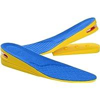 Soumit 2-Layer Invisibile Aumento di Altezza Solette Blu S (EU 35-40), Unisex Confortevole Traspirante Alzatacco Solette…