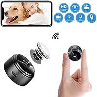 Mini Kamera WLAN Akku überwachungskamera – BOYIJIA HD 1080P Kleine WiFi IP Nanny Cam mit Bewegungserkennung und Automatische Infrarot Nachtsicht, Tragbare Mikro Wireless Kamera für Innen und Aussen