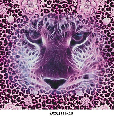 Wassertransferdruck Folie Tiger Leopard Pink 1 Meter x 50cm Breite Wassertransferdruckfilm (Leopard-folie)