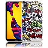 Huawei P20 Lite Comic Haha Handy-Hülle Silikon - staubdicht, stoßfest & leicht - Smartphone-Case thematys® Huawei P20 Lite