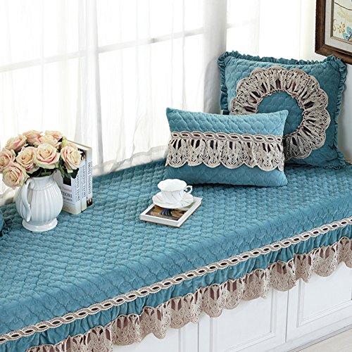 NVLKJHSFGIUJFKL Fensterbank Kissen,Luxus Retro Bay Fenster Kissen,Sill pad Nicht-Slip Tatami Wohnzimmer schlafzimmerbalkon Matte-D 110x180cm(43x71inch) -