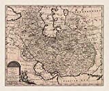 MAP ANTIQUE 1747 BOWEN PERSIA SURROUNDS IRAN LARGE ART
