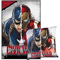 Cerdá Captain America–Fleecedecke und Kissen, 150x 100x 15cm, grau