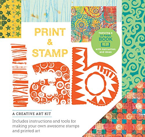 Print and Stamp Lab Kit: A Creative Art Kit, Includes instruction and tools for making your own awesome stamps and printed art Burst: featuring a 32-page book with instruction and ideas por Traci Bunkers