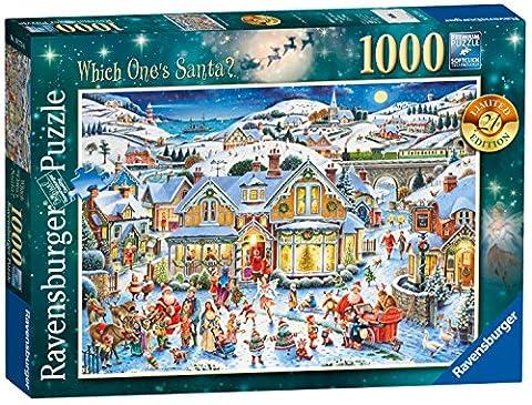 Ravensburger Which One's Santa? 2017 Limited Edition Puzzle, 1000Einzelteile (Dancing Santa Weihnachten)