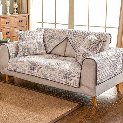 Sofa kissen handtuch,europ?ische Sofa Abdeckung Sectional sofa deckt M?beldecken Sofa legen sie abdeckung Sofa sers für wohnzimmer Couch protector-Hellgrau 110x210cm(43x83inch) Kissen Sectional Sofa
