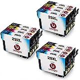 Uoopo Kompatible für Epson 29XL 29 Druckerpatronen Multipack Patronen für Epson Expression Home XP-332 XP-235 XP-335 XP-432 XP-435 XP-442 XP-445 XP-342 XP-345 XP-245 XP-247 Drucker ( 3 Schwarz, 3 Cyan, 3 Magenta, 3 Gelb)