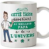 Mugffins Papa Tasse/Mug - Cette Tasse Appartient au Papa de l'univers - Tasse Originale/Idee Fête des Pères/Cadeau Anniversai
