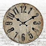 Runde Runde amerikanischen Antike Uhren digitale Wand Uhr Digitaluhr retro Wohnzimmer Schlafzimmer Uhr Durchmesser 34/40/50/60 cm,C,24 Zoll