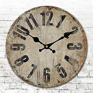 Runde Amerikanischen Antike Uhren Digitale Wand Uhr Digitaluhr Retro Wohnzimmer Schlafzimmer Durchmesser 34 40 50 60 CmC24 Zoll Amazonde