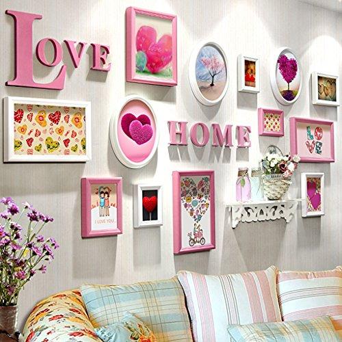 Home @ Wall Bilderrahmen Foto Wand Hochzeitsgeschenke Schlafzimmer Wohnzimmer Wand ( Farbe : A , größe : 202*102cm )