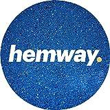 Hemway, glitter in polvere multiuso da 100g, colori unici per l'uso con decorazioni per bicchiere di vino fai da te, tavoli da matrimonio, regali, lettere, fiori, cosmetici per viso, occhi, corpo, unghie, capelli e barba., paillettes, Sapphire Blue
