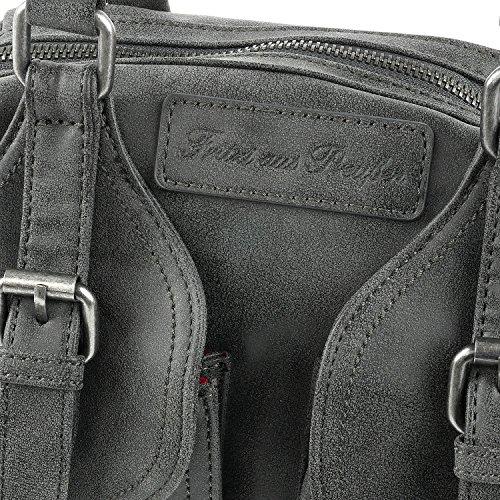 Fritzi aus Preußen Lilli Vintage Borsa a mano 32 cm black1
