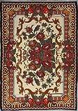 Tecnica kilim tappeto in moldavo. paese stile fantasie con rose rosse su sfondo nero. Decorato con frange.