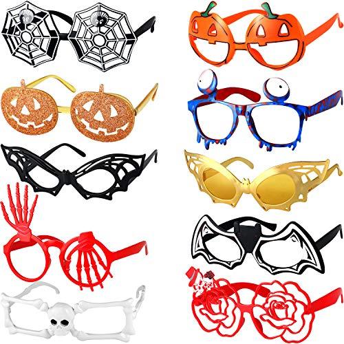 Kürbisse Kostüm - Halloween Brillen Fledermaus Kürbis Brillen Halloween Party Kostüm Brille für Jungen und Mädchen Spielzeug Geschenke