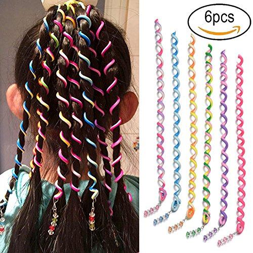 (SwirlColor 6 PCS / Set-Frauen-Mädchen-Haar-Styling Twister Clip Braider Werkzeug DIY Zubehör)