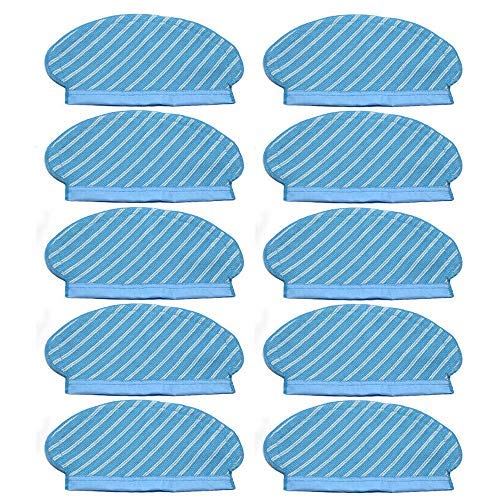 10Wischtücher Tücher Pad Mopping Cloths Für Xiaomi Roborock S50 S51 Staubsauger