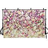 Mehofoto fondo de estudio fotográfico colorido flores fondo de fotografía para boda fiesta decoración 7 pies x 5 pies