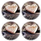 MSD 26002634 Dessous de verre ronds antidérapants en caoutchouc naturel Motif sucre...