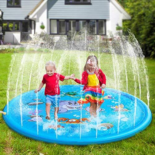 Wuree Sprinkler Pad und Splash Spielmatte 68
