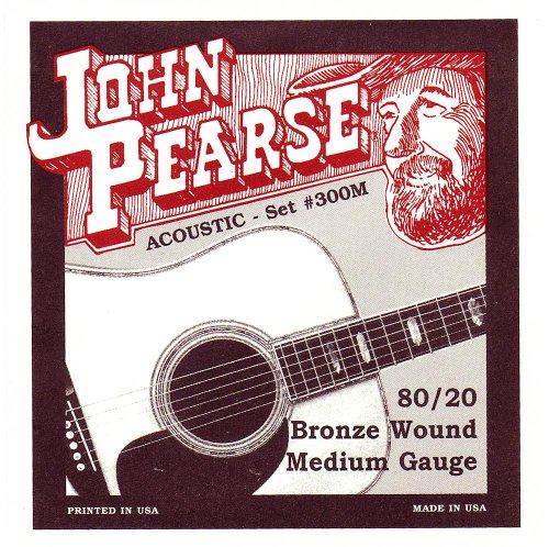 John Pearse 300M Akustikgitarre 013-056 Medium Bronze Saiten-Set