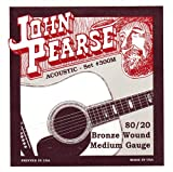 John Pearse 300M Jeu de cordes pour Guitare Bronze Medium