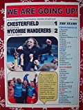 Sports Prints UK Chesterfield 1 Wycombe Wanderers 2-2018 - Wycombe promoted - souvenir print