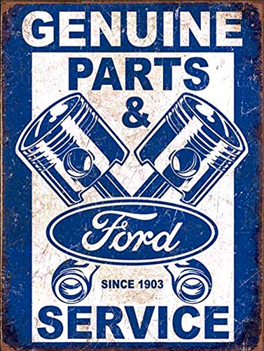Mr.sign Genuine Ford Service Retro Blechschilder Vintage Metall Poster Warnschild Retro Schilder Blech Blechschild Wanddekoration Malerei Bar Cafe Restaurant Garten Park
