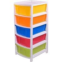 Aristo Multipurpose 5 Drawer Plastic Modular Chest Storage Organizer