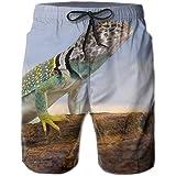 ZHIZIQIU Men's Shorts Swim Beach Trunk Summer Gecko Lizard Fit Classic Shorts with Pockets