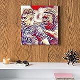 Bafétimbi Gomis and Salem Al-Dawsari Al Hilal MDF Wall Art 30x30 Centimeter