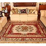 Flash American Carpet Alfombras de Persa para salón o dormitorio mesilla de noche Mats Con Continental de Pastoral lavar a máquina, Chenilla, M, 160 x 230 cm