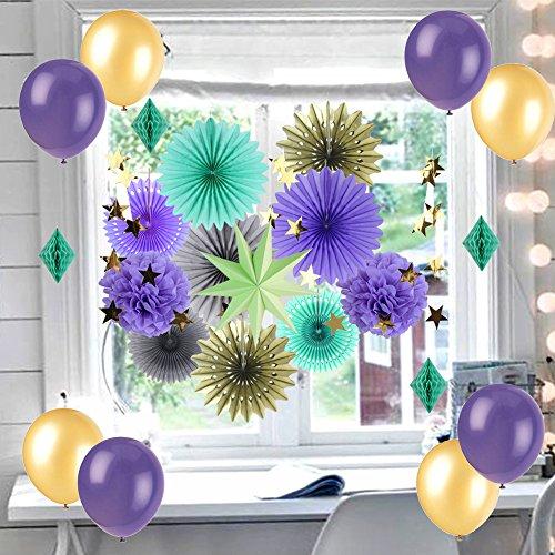 SUNBEAUTY Decoración Verde Con Globos, Decoración para Cumpleaños y...