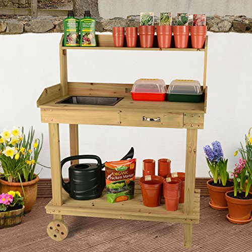 Christow-Wooden-Plant-Flower-Potting-Greenhouse-Staging-Table-Bench-with-Wheels