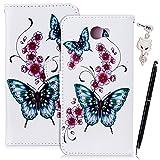 Anfire Coque Huawei Y5 II Etui Housse Fleur Papillon Pochette Housse à Rabat Cuir PU...