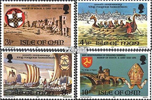 Prophila Collection GB - Insel Man 44-47 (kompl.Ausg.) 1974 Historische Ereignisse (Briefmarken für Sammler) Seefahrt