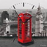 contento 866262 Horloge Murale, Multicolore, 28 x 28 x 2,1 cm
