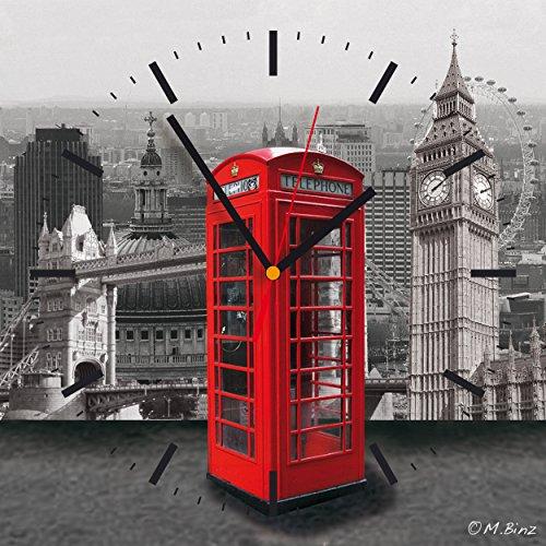 Contento 866262 Wanduhr, 28 x 28 cm, London