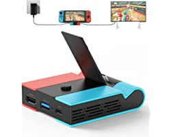 Switch TV Dock, Knofarm Portable TV Docking Station Replacement for Nintendo Switch with HDMI and USB 3.0 Port, Foldable Swit