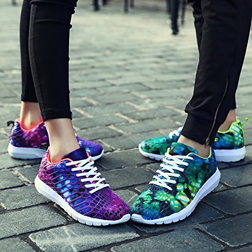 Scarpe sportive di moda per scarpe da ginnastica casual per uomo / donna primavera e estate per corsa / ciclismo / passeggiate leggeri e traspiranti roses red and green