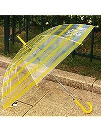 CWAIXX Espesor fresco y recto transparente paraguas pequeño de mango largo paraguas automáticamente parejas de hombres