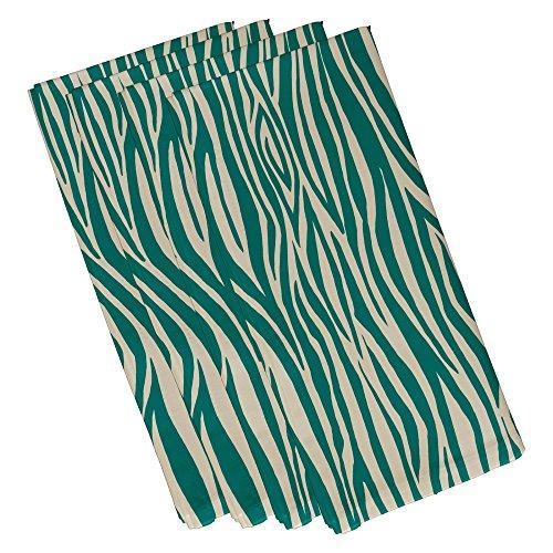 E von Design Holz Streifen, geometrische Print Serviette, (Set von 4), 48,3x 48,3cm Jade Jade Serviette